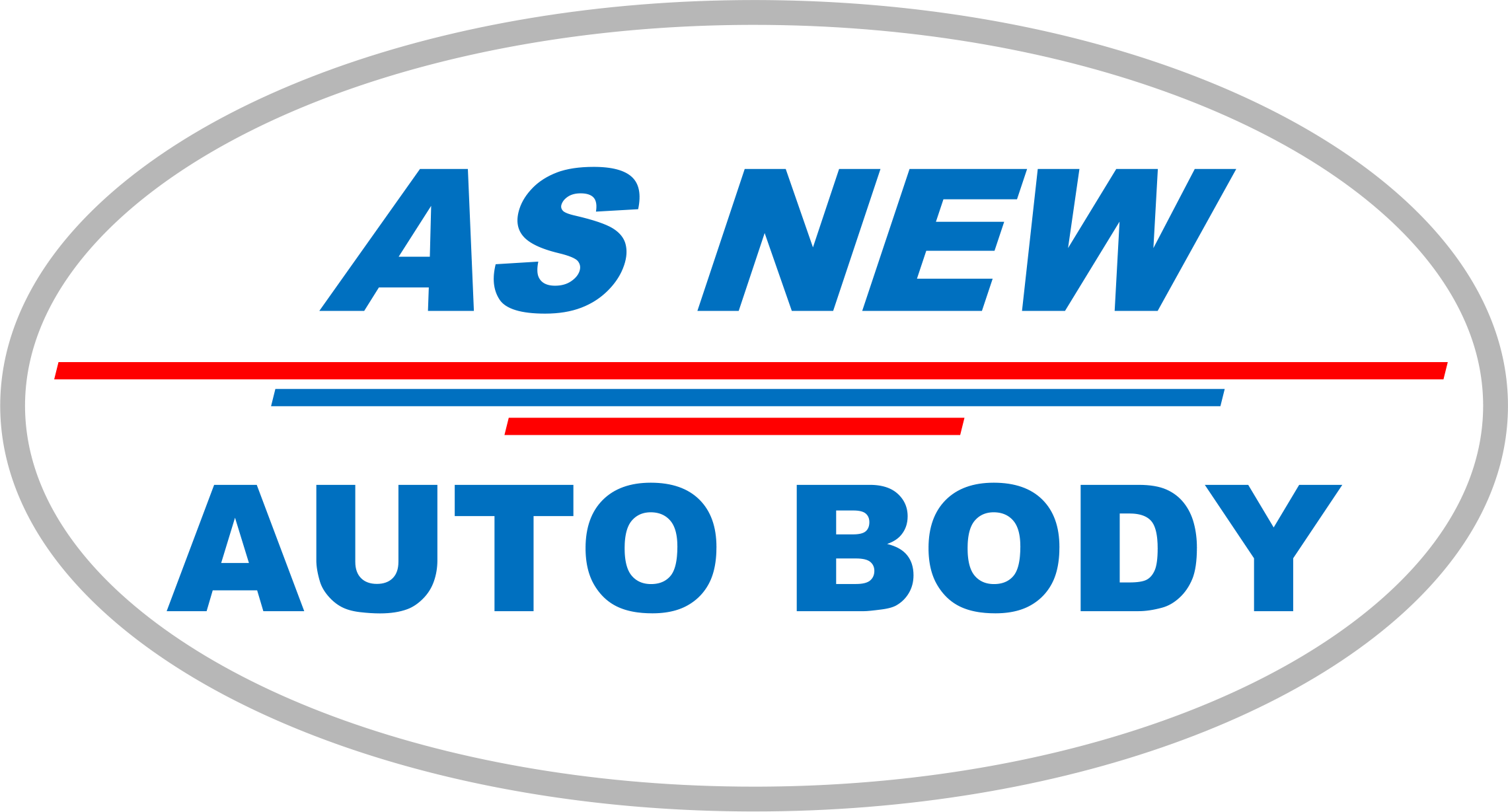 As New Auto Body logo